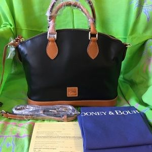 DOONEY/BOURKE NEWPORT LEATHER DARCY SATCHEL/BLACK